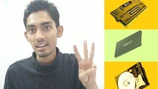 Hard Disk VS Solid State Drive VS RAM || Hindi