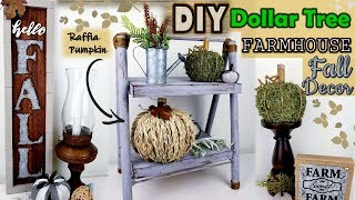 Dollar Tree DIY | Farmhouse Fall Decor 2019 | Raffia Pumpkin DIY