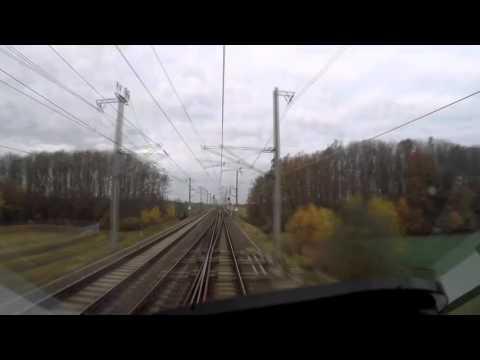 ICE Führerstandsfahrt von Leipzig nach Erfurt auf neuer Trasse