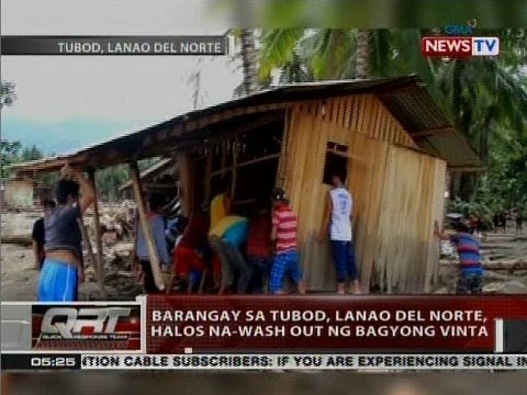 QRT: Barangay sa Tubod, Lanao del Norte, halos na-wash out ng bagyong Vinta