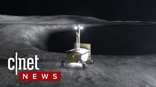 Robots will mine the moon for water in the dark (CNET News) thumbnail