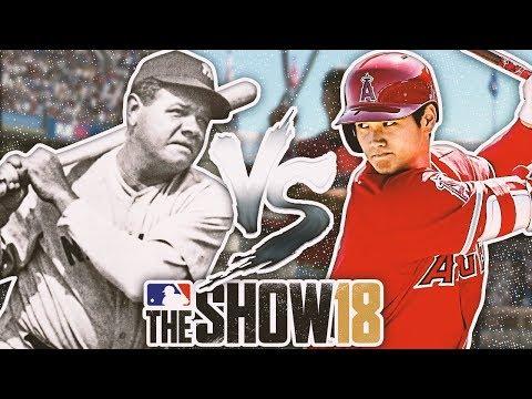 SHOHEI OHTANI vs. BABE RUTH - HOME RUN DERBY MLB The Show 18 Challenge