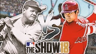 SHOHEI OHTANI vs. BABE RUTH - HOME RUN DERBY MLB The Show 18 Challenge