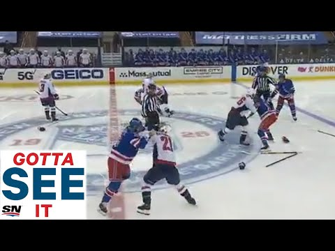 GOTTA SEE IT: Three Fights Break Out On Opening Draw Between Rangers & Capitals - SPORTSNET