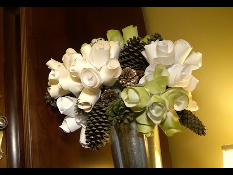 diy paper flower arrangement
