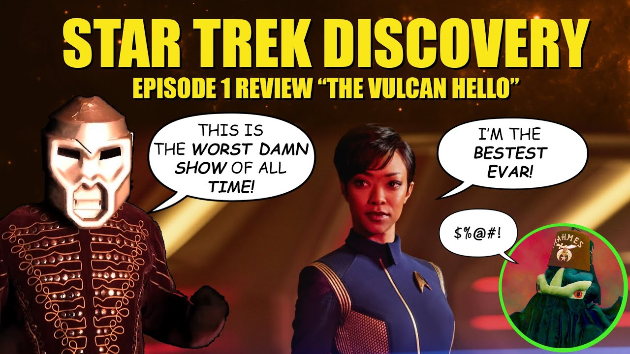 Star Trek Discovery Review S01E01   The Vulcan Hello is an ABOMINATION!