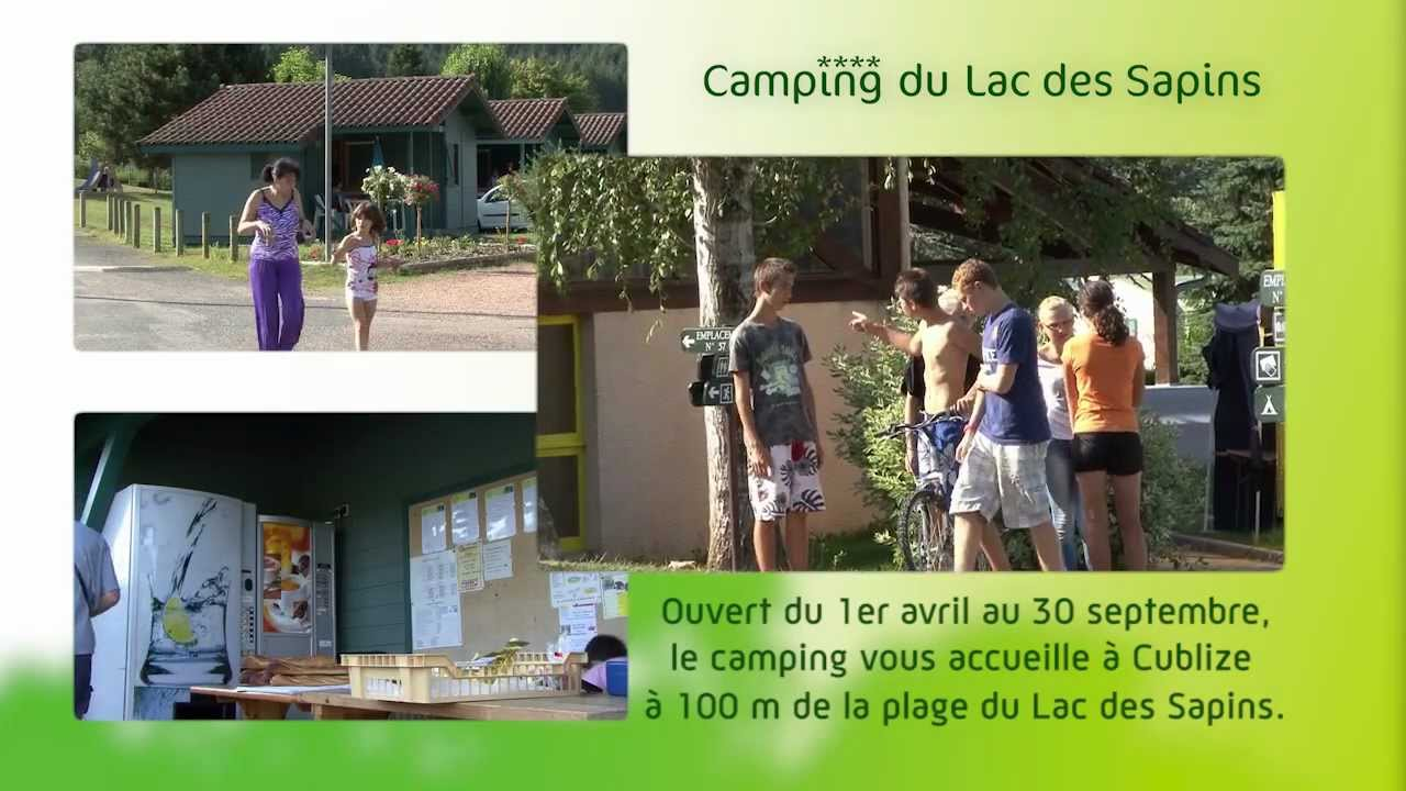 Camping du lac des sapins cublize youtube for Camping lac du bourget piscine