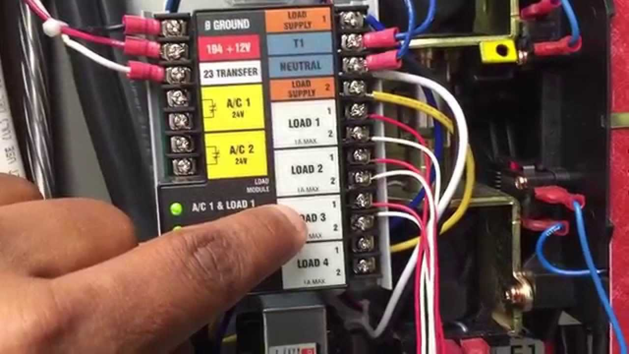 Generac Control Wiring Diagram Detailed Schematics 6500e Generator 22 Kw Stand By Air Cooled Part 2 Youtube Standby