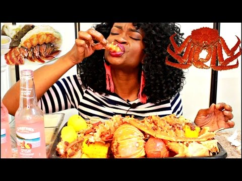 SEAFOOD BOIL MUKBANG! KING CRAB! ( EATING SHOW) YUMMYBITESTV