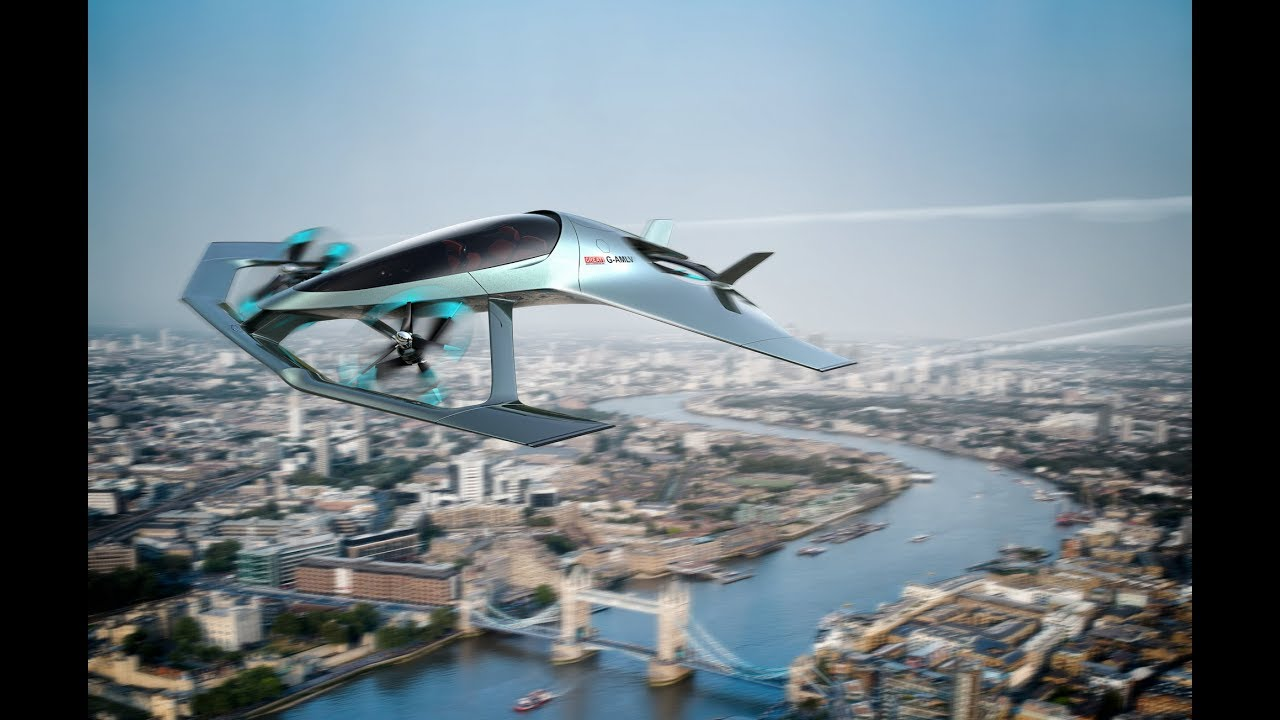 Летающий автомобиль от Aston Martin   Транспорт будущего   Новинки Наука и техника