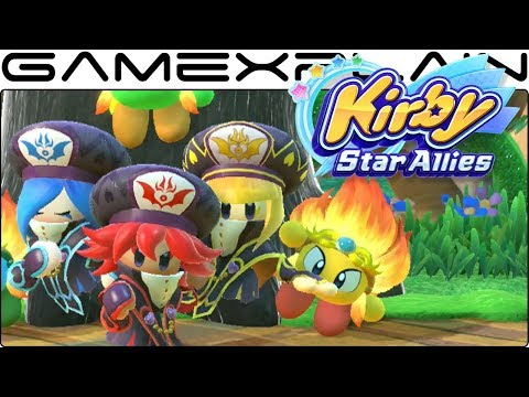10 Minutes of the Three Mage Sisters Gameplay - Kirby Star Allies (Wave 3 DLC)