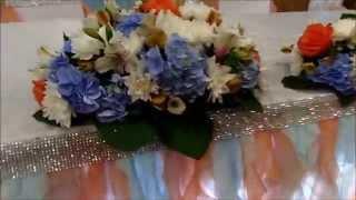 Персиково голубая свадьба в Русском Лесу