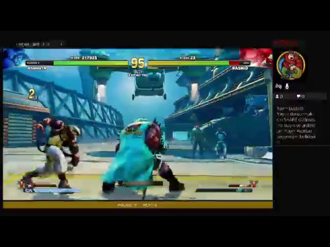 Street Fighter V - Let's play - AtomiX - Ps4live - Canlı Yayın