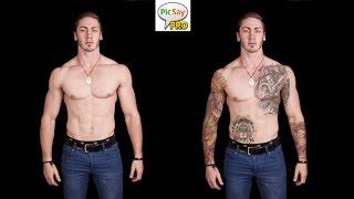 Cara Edit Tattoo (Picsay Pro)