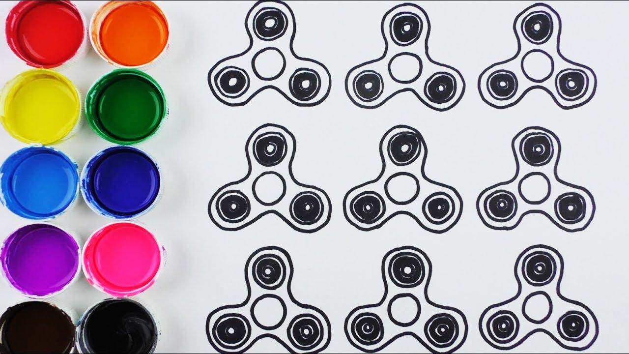 Dibujos Varios Para Colorear: Dibuja Y Colorea Fidget Spinner