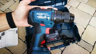 Unpacking Unboxing Cordless Drill Driverbosch Gsr 18v 50 06019h5000 Youtube