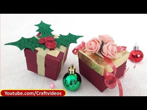 How To Make : Gift Box Easy | Christmas Gift Box