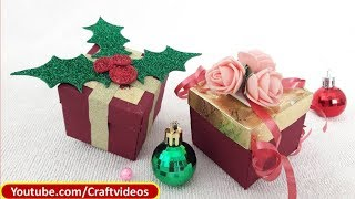 How to make : Gift Box Easy | Christmas Gift Box