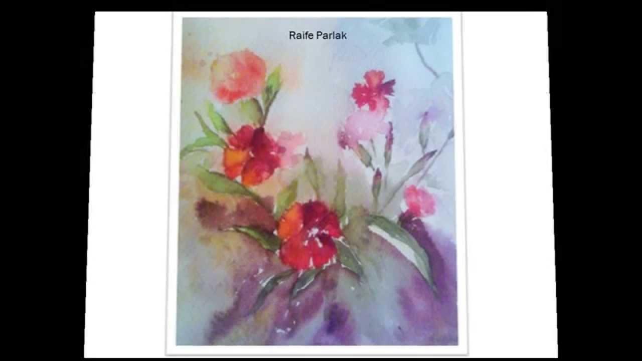Suluboya çiçek Resimleri Youtube