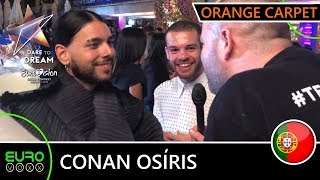 PORTUGAL EUROVISION 2019: Conan Osíris - 'Telemóveis' (ORANGE CARPET INTERVIEW) | Tel Aviv 2019