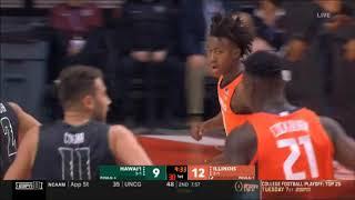 Kofi Cockburn (Illinois C #21) vs Hawaii
