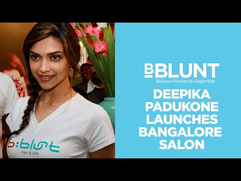 Bollywood Celebrity Deepika Padukone Launches BBLUNT Salon In Bangalore