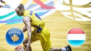 Kosovo v Luxembourg - Full Game - Class. 17-22 - FIBA U20 European Championship Division B 2018