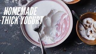 Homemade yogurt: thick and creamy | Thick Dahi recipe| (FULL PROOF METHOD)