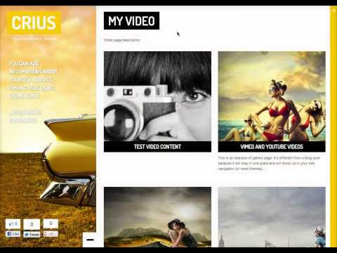 Crius Theme - How to create a video page