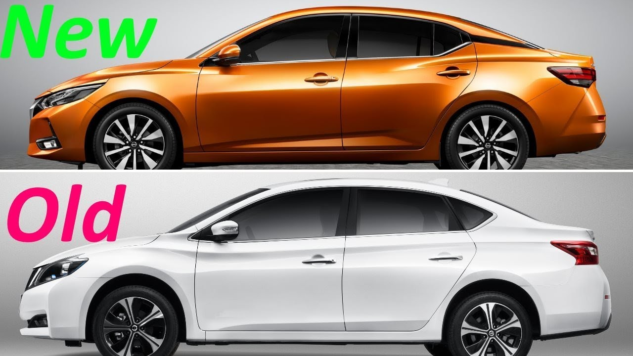 new 2020 nissan sylphy sedan vs  old nissan sylphy sedan