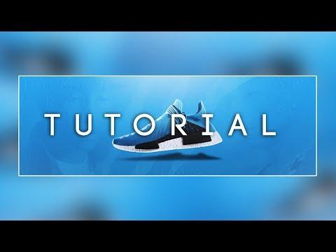 Photoshop Tutorial: NMD Shoe advertisement Tutorial - By Mason.