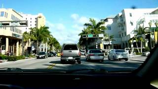 Drive along Atlantic Ave in Beautiful Delray Beach