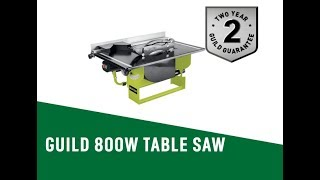 4648561 GUILD 800W TABLE SAW