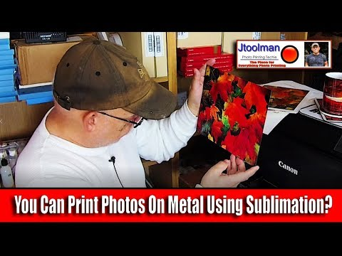 You Can Print Photos On Metal Using Sublimation?