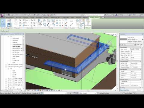 Advanced Revit Architecture 2013 Tutorial | Make Pitched Roof