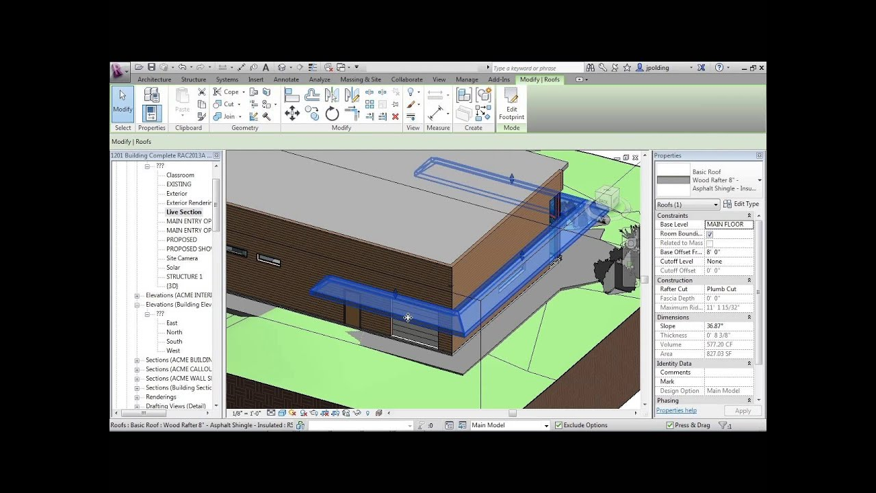 Advanced Revit Architecture 2013 Tutorial Make Pitched