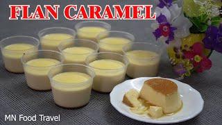 Ẩm Thực MN - Làm Bánh Flan Caramel Vanille Kem Sữa Tươi Hấp Nồi Mềm Mịn Béo Ngậy