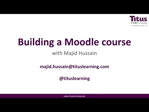 Free Moodle Training 1: Creating a Moodle course