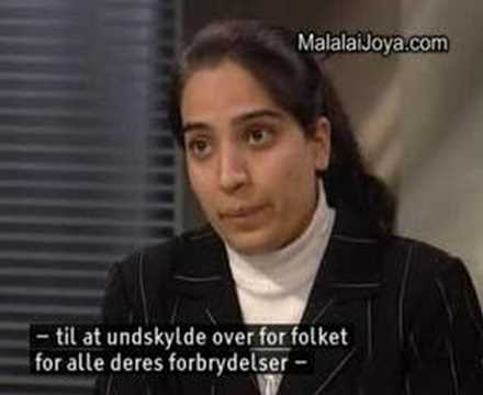 Malalai Joya being interviwed by DR2 TV in Denmark