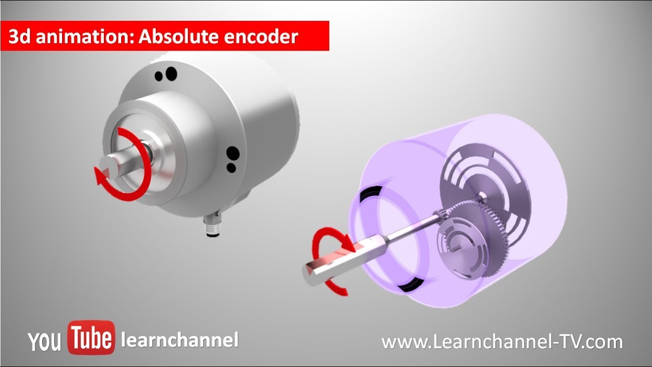 Absolute Encoder (Shaft Encoder, Rotary encoder) - how it works!