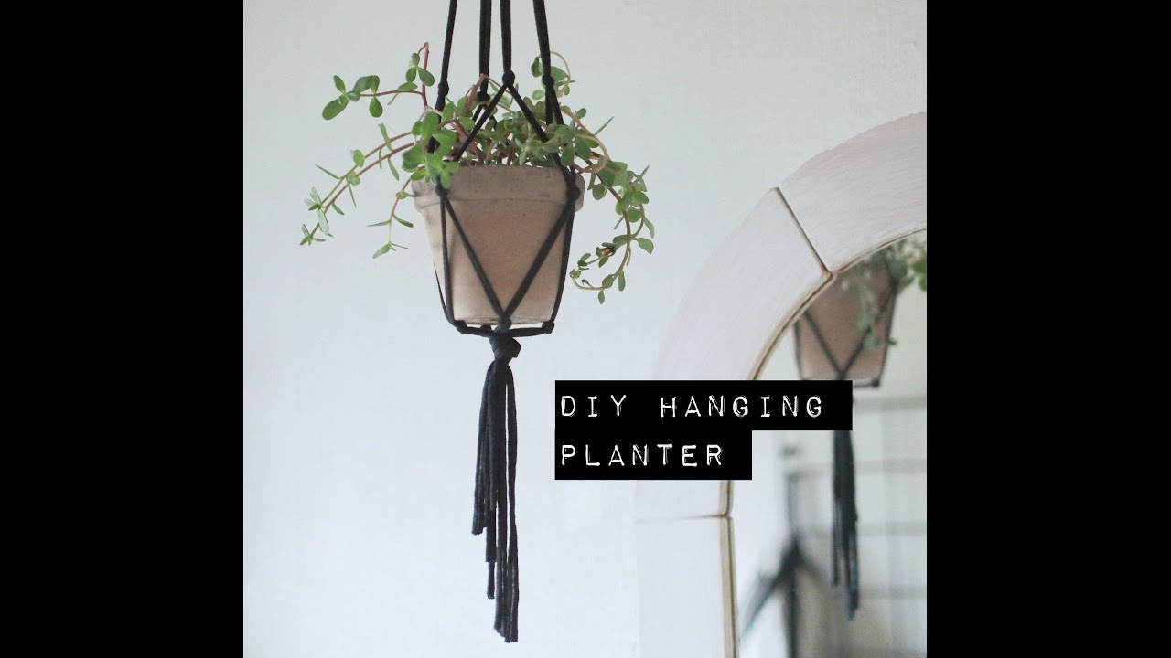 How to make a diy hanging planter   youtube