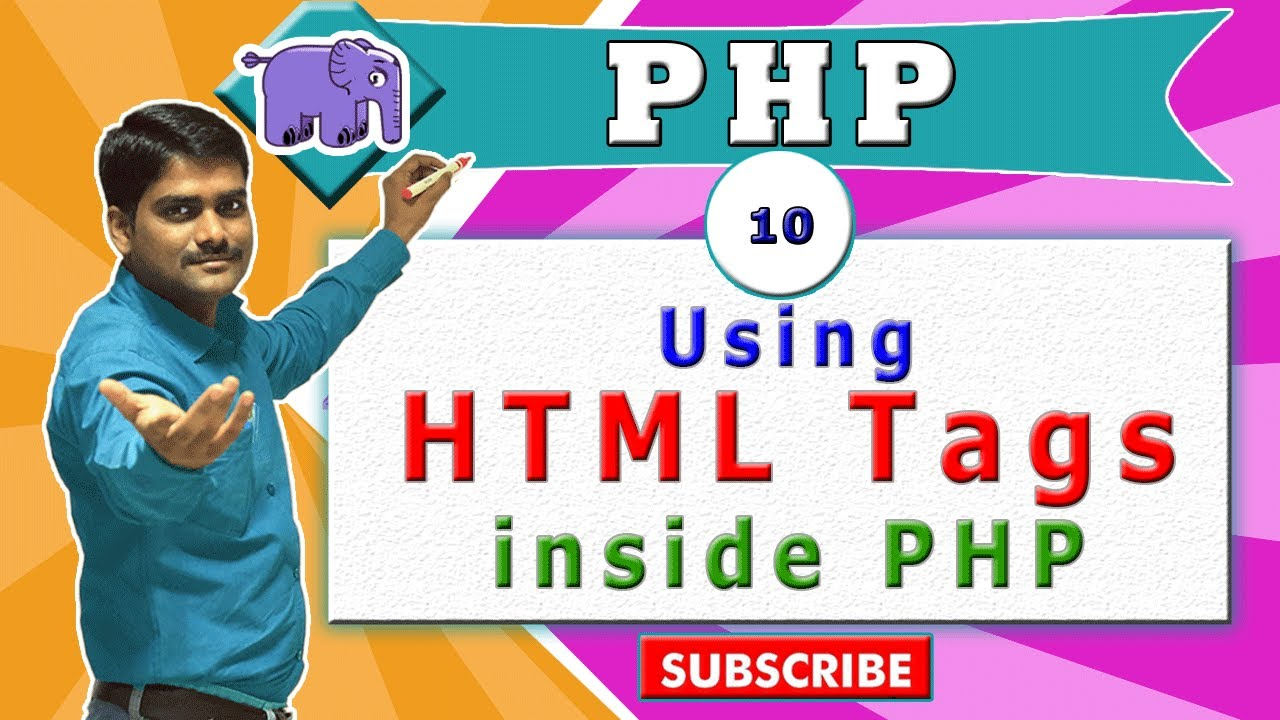 Download PHP Tutorial 10 - How to use HTML tags in PHP echo statement