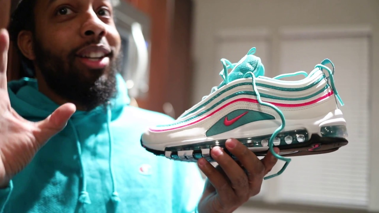 air max 97 south beach on foot