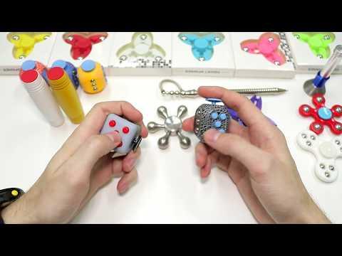 Фиджет Игрушки Спиннеры неодимовая ручка, стресс кубик \ Best fidget hand spinners antistress toys