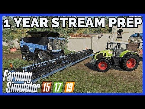 🔴 LIVE: 1 YEAR/10 HOUR STREAM PREP | Farming Simulator 15, 17, 19 thumbnail