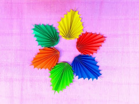 Make Origami Paper Autumn Maple Leaves || Maple Leaf || DIY Crafts Tutorial || Art Of Learning ||