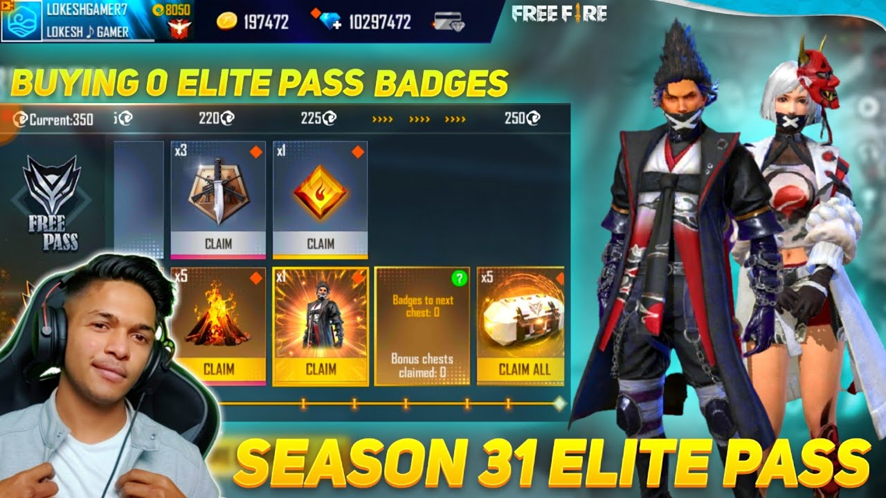 Buying 0 Badges In Season 31 Elite Pass And I Got 0 Magic Cube Creates Garena Free Fire 2020