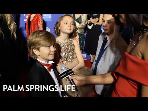 Joel Dawson, Pixie Davies, & Nathanael Saleh at the PSIFF GALA 2019 | PALM SPRINGS LIFE Mp3