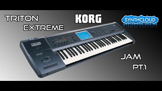 Korg triton Extreme Synth Workstation performed by S4K ( Space4Keys - Keyboard Solo )