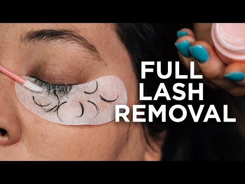 How To Easily Remove Lash Extensions
